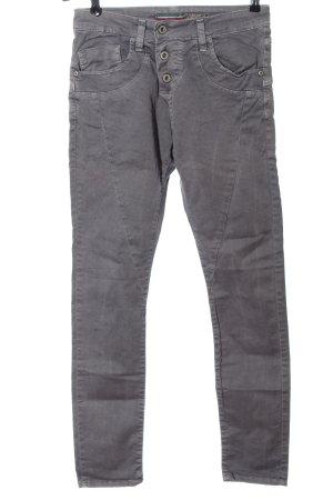 Please Jeans a sigaretta grigio chiaro stile casual