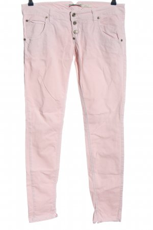 Please Jeansy rurki różowy W stylu casual