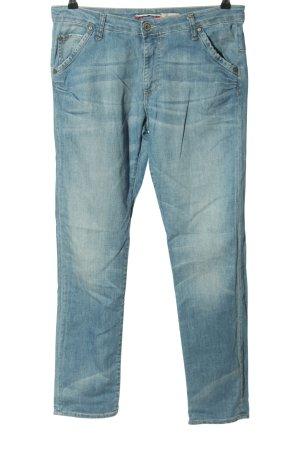 Please Jeans cigarette bleu style décontracté