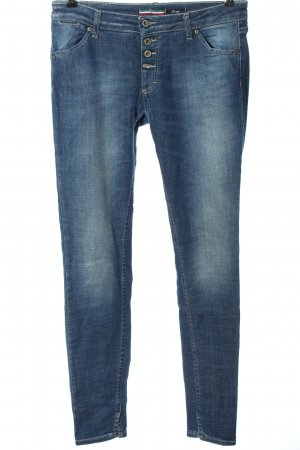Please Jeans a sigaretta blu stile casual