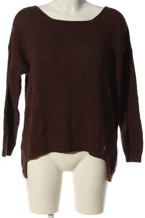 Please Sweter z okrągłym dekoltem brązowy W stylu casual