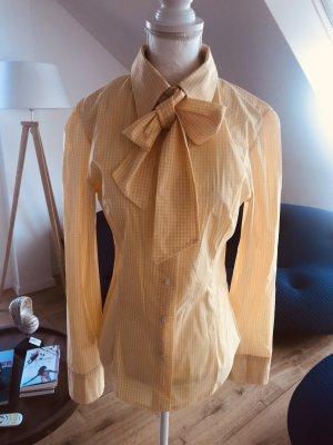 Please Blouse avec noeuds blanc-jaune
