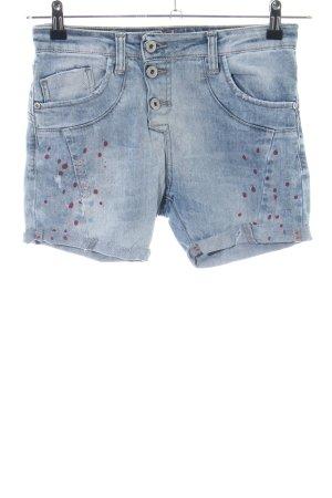 Please Shorts blau Punktemuster Casual-Look