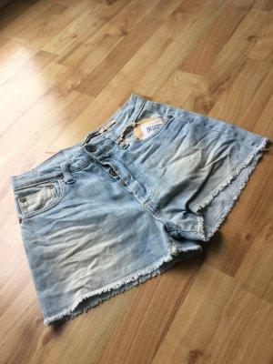 Please Jeansowe szorty Wielokolorowy Tkanina z mieszanych włókien