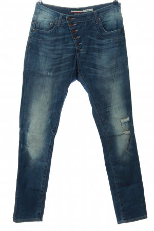Please Skinny jeans blauw casual uitstraling
