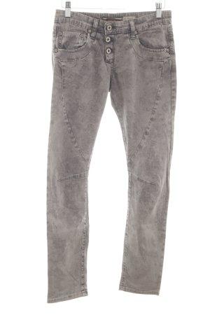 Please Skinny Jeans hellgrau Blumenmuster Casual-Look