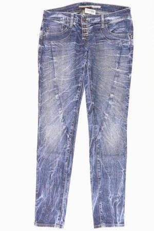 Please Skinny Jeans Größe M blau aus Baumwolle