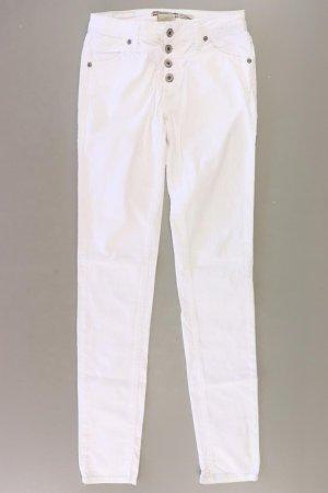 Please Jeansy o obcisłym kroju w kolorze białej wełny Bawełna