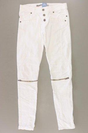 Please Jeans skinny bianco sporco Cotone