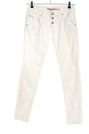 Please Jeans skinny bianco sporco stile casual