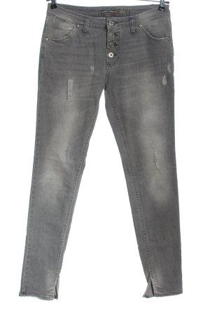 Please Jeans slim fit grigio chiaro stile casual