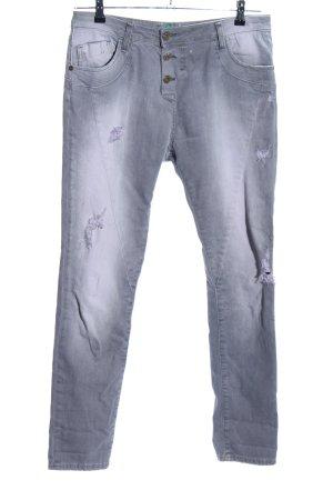 Please Slim Jeans hellgrau Casual-Look