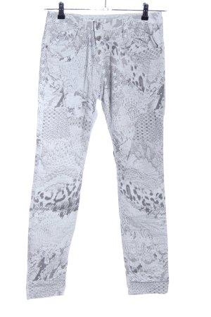 Please Slim Jeans hellgrau Allover-Druck Casual-Look