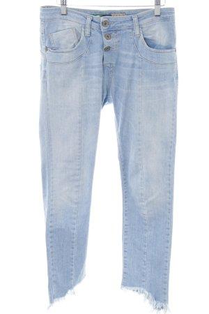 Please Slim Jeans blau Used-Optik