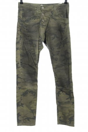 Please Slim Jeans Camouflagemuster Casual-Look