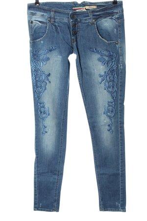 Please Jeans slim fit blu stile casual