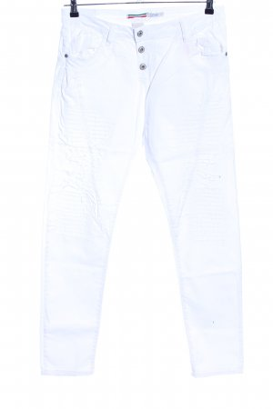Please Jeans slim blanc style décontracté