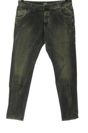 Please Dopasowane jeansy khaki W stylu casual