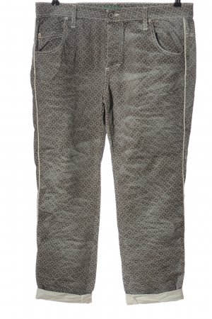 Please Jersey Pants natural white-black allover print casual look