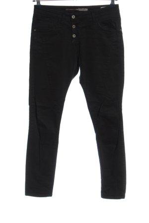 Please Spodnie materiałowe czarny W stylu casual