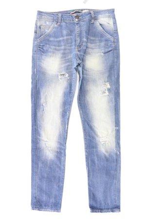 Please Jeans a gamba dritta blu-blu neon-blu scuro-azzurro Cotone