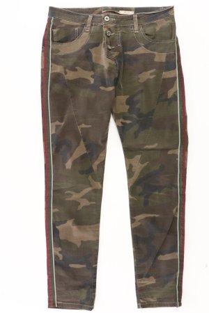 Please Straight Jeans Größe S camouflage olivgrün aus Baumwolle