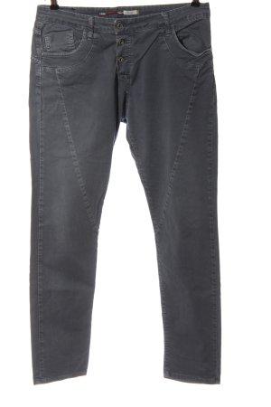 Please Jeansy z prostymi nogawkami niebieski W stylu casual