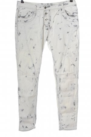 Please Straight-Leg Jeans weiß Allover-Druck Casual-Look