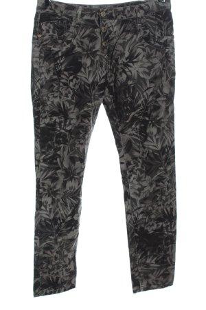 Please Jeans a gamba dritta nero-grigio chiaro stampa integrale stile casual