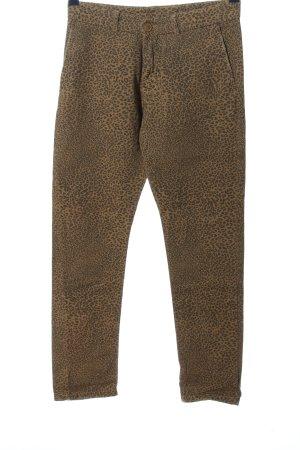 Please Straight-Leg Jeans bronzefarben-goldfarben Leomuster Casual-Look