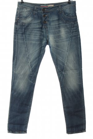 Please Jeans a gamba dritta blu stile casual