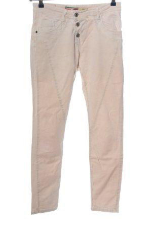 Please Jeansy z prostymi nogawkami kremowy W stylu casual