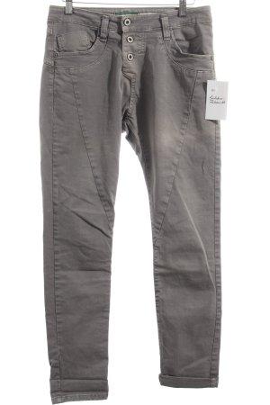 Please Stretch Jeans grau schlichter Stil