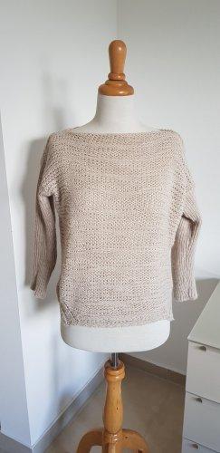 Please Sweter z grubej dzianiny kremowy