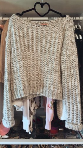 Please Strickpullover grau meliert Bloggerstyle