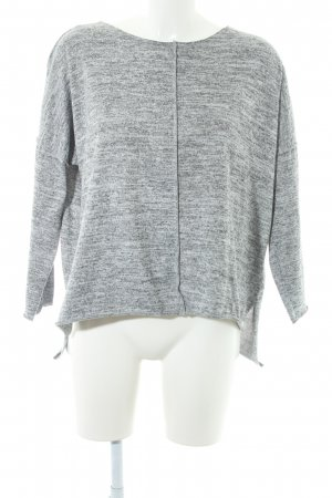 Please Strickpullover hellgrau meliert Casual-Look