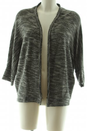 Please Knitted Wrap Cardigan green-cream flecked casual look