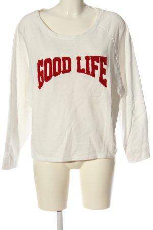 Please Suéter blanco puro-rojo look casual