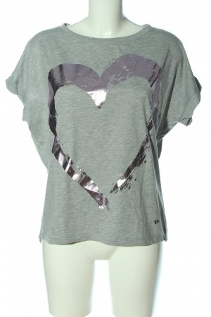 Please Camiseta caqui-lila moteado look casual