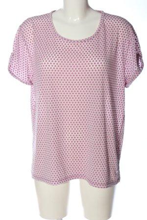 Please T-shirt różowy-w kolorze białej wełny Wzór w kropki W stylu casual