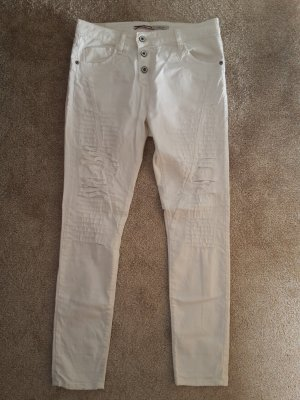 Please Five-Pocket Trousers white