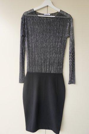 Pleated Metallic Skirt Dress