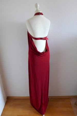 Plein Sud Faycal Amor Neckholder Abendkleid lang dunkelrot Gr. S 36 38