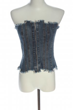 Plein Sud Jeans Gorset niebieski W stylu casual