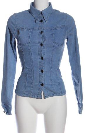 Plein Sud Jeans Chemise en jean bleu style décontracté