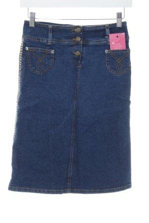 Plein Sud Jeans Gonna di jeans blu Elementi metallici