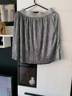 H&M Falda plisada color plata