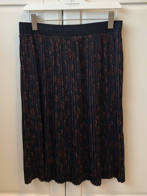 Pleated Skirt dark blue-brown violet