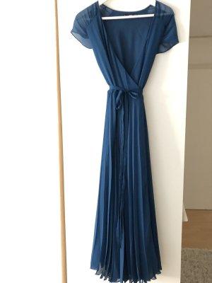 Mango Vestido cruzado petróleo-azul oscuro
