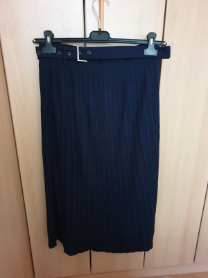 Sweewe Pleated Skirt dark blue